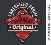 vintage denim embroidery... | Shutterstock .eps vector #329547152