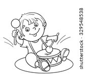 coloring page outline of a... | Shutterstock .eps vector #329548538