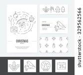 christmas template for business ... | Shutterstock .eps vector #329562566