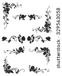 vintage floral borders with... | Shutterstock .eps vector #329563058