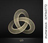 trefoil knot. connection...   Shutterstock .eps vector #329563772