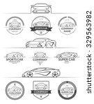 set of sports car silhouettes... | Shutterstock .eps vector #329563982