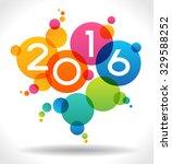 vector 2016 happy new year... | Shutterstock .eps vector #329588252