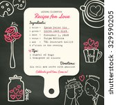 recipe card creative wedding... | Shutterstock .eps vector #329590205