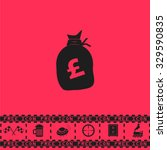 money bag   pound gbp. black...