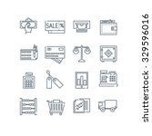 a set of various finance icons  ... | Shutterstock .eps vector #329596016