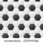 seamless soccer black and white ... | Shutterstock .eps vector #329599586