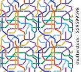 color metro railway transport... | Shutterstock .eps vector #329599598