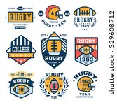 collection of rugby club... | Shutterstock .eps vector #329608712