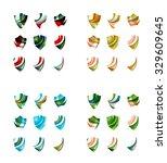 set of company logotype... | Shutterstock .eps vector #329609645