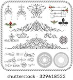 calligraphic frames and page... | Shutterstock .eps vector #329618522