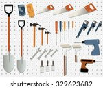 display wall of a hardware... | Shutterstock .eps vector #329623682