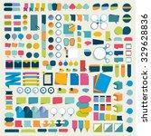 mega set infographics flat... | Shutterstock .eps vector #329628836