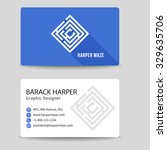 corporate vector business card... | Shutterstock .eps vector #329635706