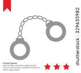 handcuffs icon | Shutterstock .eps vector #329635982
