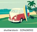 Retro Illustration Of Surfer...