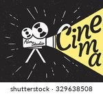Movie Projector With Yellow...