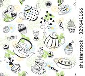tea time seamless pattern. tea... | Shutterstock .eps vector #329641166