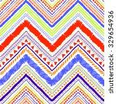 seamless tribal zigzag pattern... | Shutterstock .eps vector #329654936