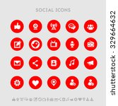 social flat design icons  on...