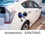 power supply for electric car... | Shutterstock . vector #329675042