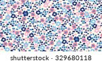 painted flowers   seamless... | Shutterstock .eps vector #329680118
