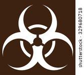 biohazard symbol vector icon.... | Shutterstock .eps vector #329680718