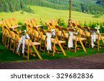 chairs at this wedding venue...   Shutterstock . vector #329682836