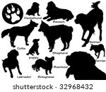Stock vector set of dogs 32968432