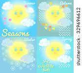 seasons. summer  autumn  winter ... | Shutterstock .eps vector #329696612