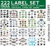 mega collection label set ... | Shutterstock .eps vector #329700695