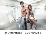 beautiful young sporty sexy... | Shutterstock . vector #329704256