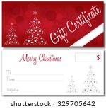 red gift certificate christmas...   Shutterstock .eps vector #329705642