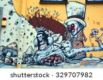 vilnius lithuania 09 14 2015 ... | Shutterstock . vector #329707982
