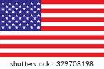 american flag | Shutterstock .eps vector #329708198