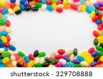 assorted jelly beans border...