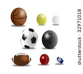 set of sport balls vector | Shutterstock .eps vector #32971018