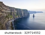 view at the cliffs of moher... | Shutterstock . vector #329714552