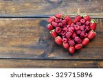 Heart Shaped Strawberries And...