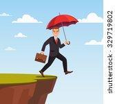 businessman leap of faith... | Shutterstock .eps vector #329719802