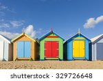 Bathing Boxes In A Beach...