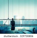 businessman thinking... | Shutterstock . vector #329730806