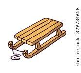 kid's sleigh  bright vector... | Shutterstock .eps vector #329734658