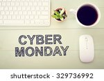 cyber monday message with... | Shutterstock . vector #329736992