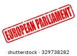 european parliament red stamp... | Shutterstock .eps vector #329738282