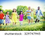 children park friends... | Shutterstock . vector #329747945