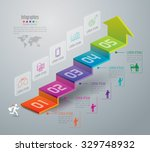 infographic design template can ... | Shutterstock .eps vector #329748932