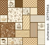 seamless patchwork tile with... | Shutterstock .eps vector #329754416