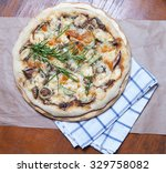 pizza with sardine | Shutterstock . vector #329758082