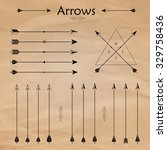 set of different arrows on the... | Shutterstock . vector #329758436